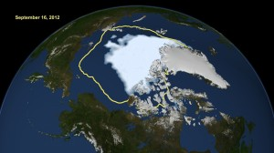 arctique fonte nasa
