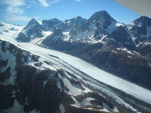 Glacier Tasman en Nouvelle-Zélande (Source : Wikipedia)