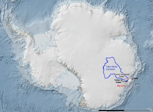 Glacier Totten (Source : Australian Antarctic Division)