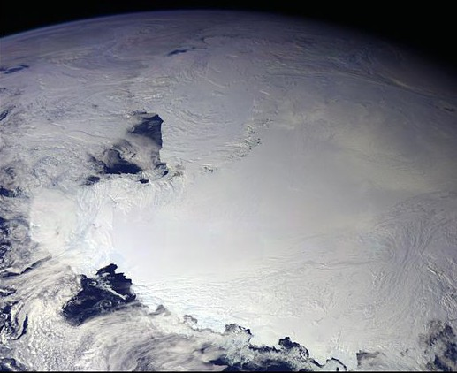 Antarctique. Source : NASA/JPL.