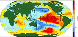 Phase positive de l'oscillation interdécennale du Pacifique (IPO). Source : NOAA.