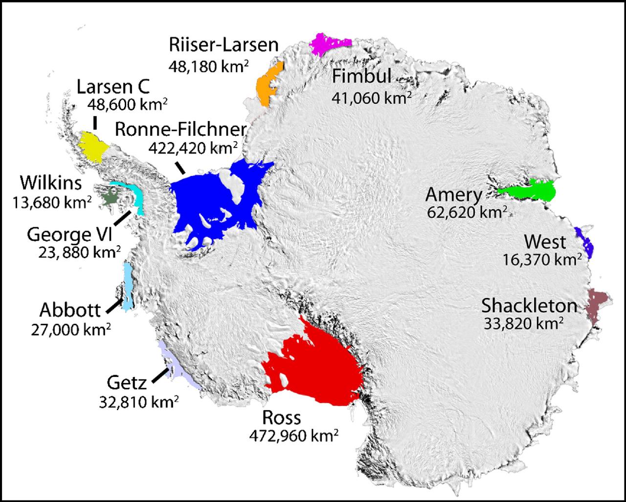 Les effets longue distance des plateformes de glace en Antarctique