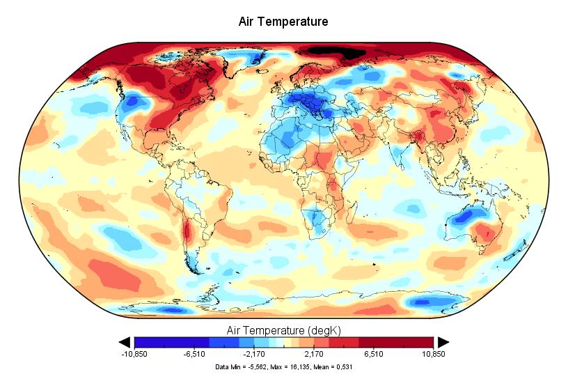 Bilan ncep ncar pour janvier 2017 le 2 plus chaud des archives global climat - Les soldes janvier 2017 ...