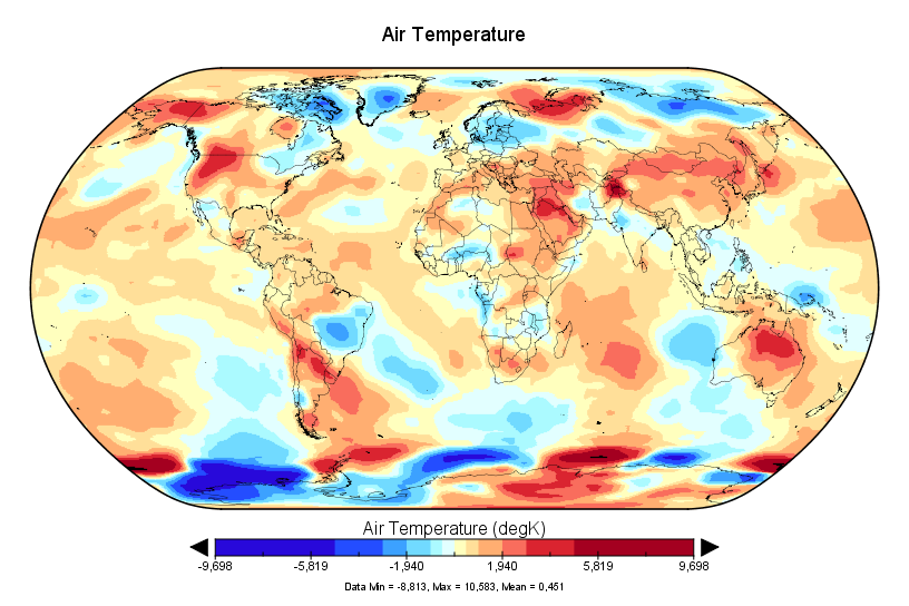 Léger réchauffement en juillet 2017