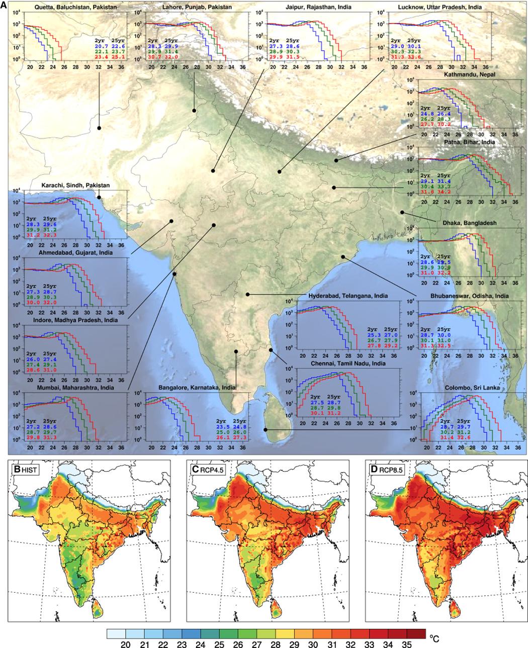L'Asie du Sud en proie à une chaleur intolérable d'ici 2100