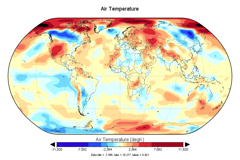 NCEP-NCAR : +0,42°C en novembre 2017