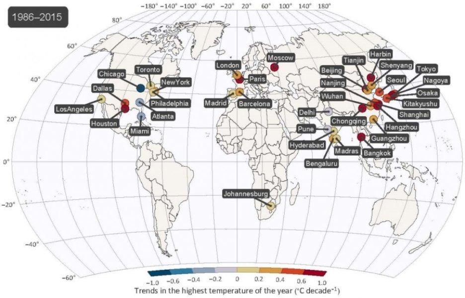 Les températures extrêmes grimpent plus vite que la tendance moyenne