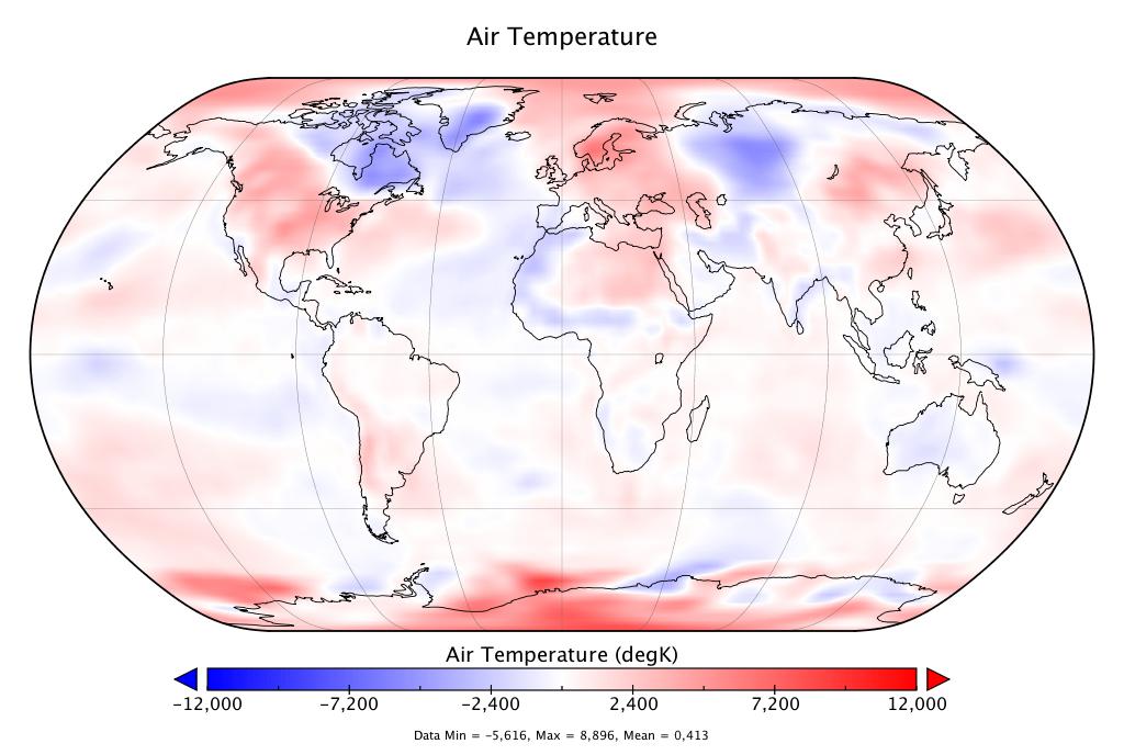 Température mondiale :  +0.413°C en mai 2018