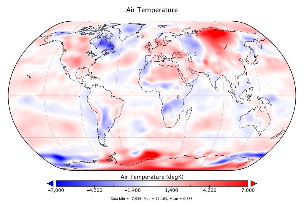 Température mondiale :  +0,353°C en juin 2018
