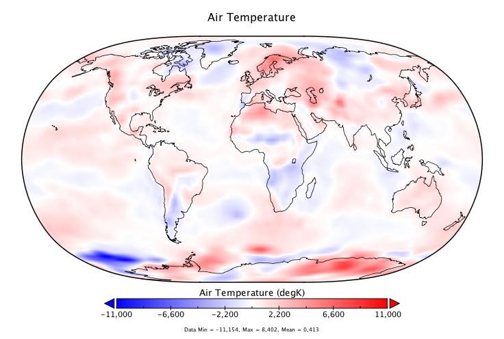 Température mondiale :  +0,413°C en juillet 2018