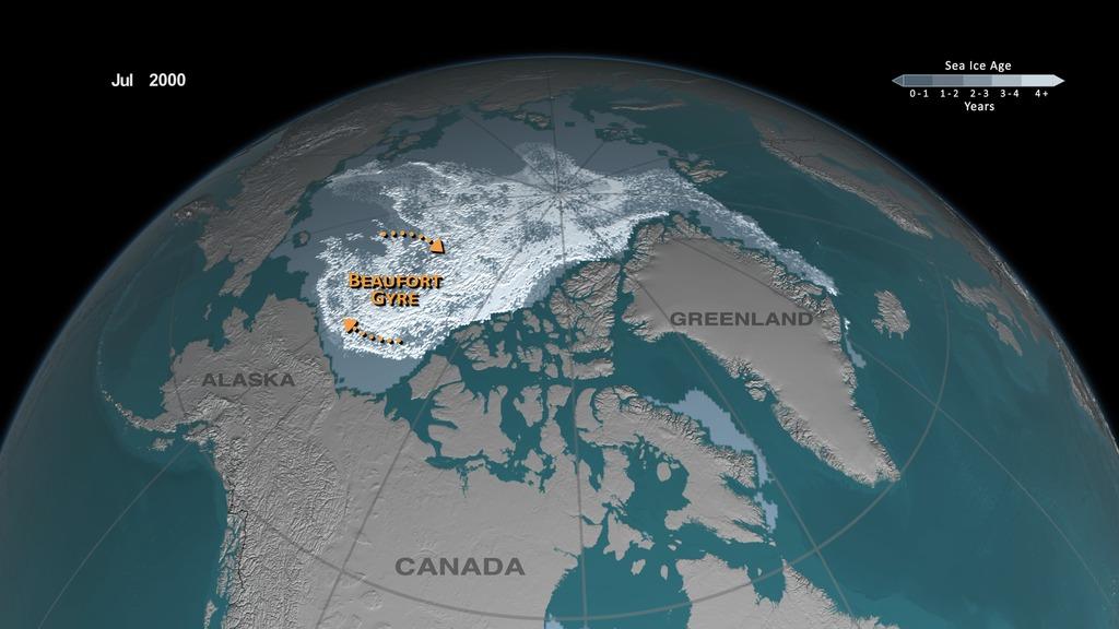Une accumulation d'eau chaude qui menace la glace de mer arctique