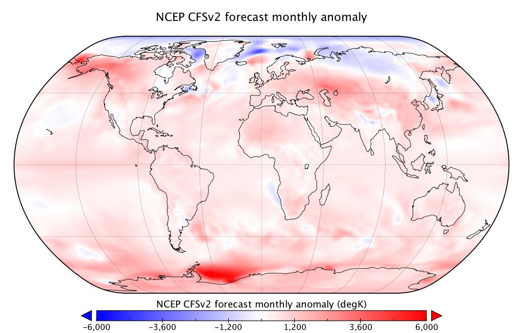 Température globale : tendance pour les six prochains mois