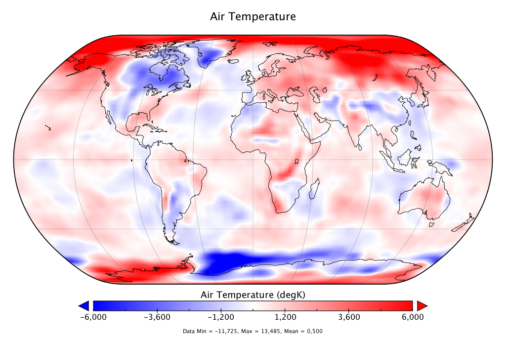 Température mondiale :  +0,50°C en octobre 2018