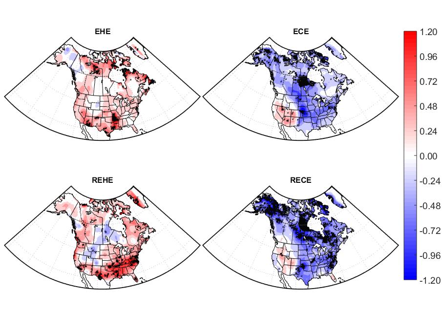 Chaleur extrême été comme hiver en Amérique du Nord