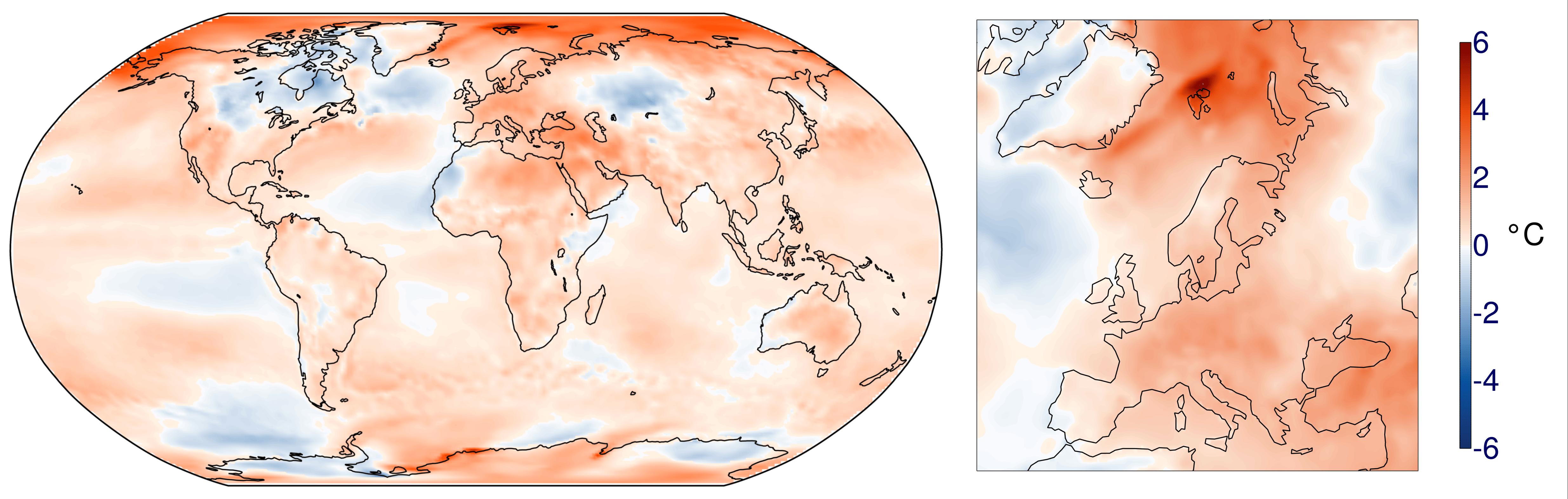 2018 : 4e année la plus chaude sur Terre, d'après NCEP-NCAR et ECMWF