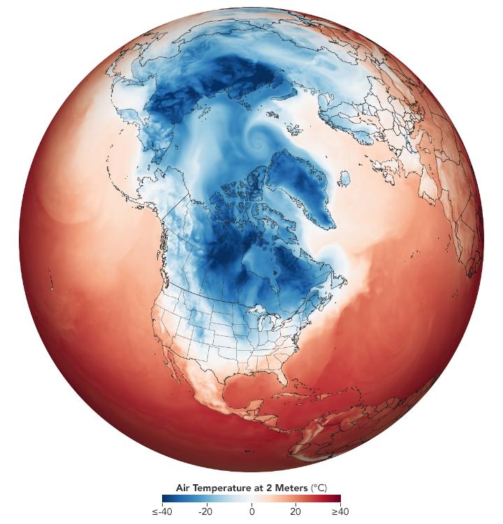 Polar vortex, quel lien avec le réchauffement climatique ?