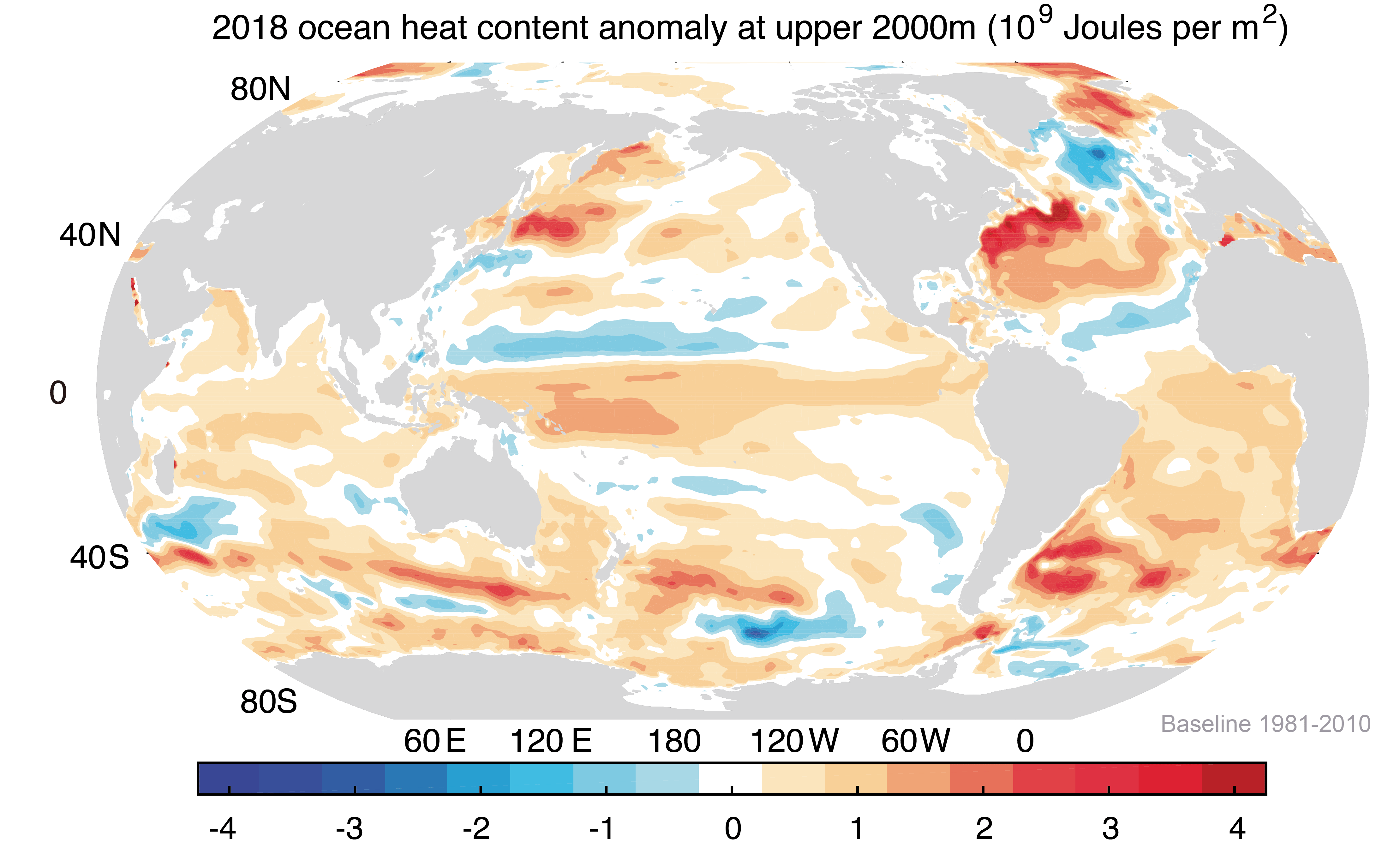 Record de chaleur pour les océans en 2018