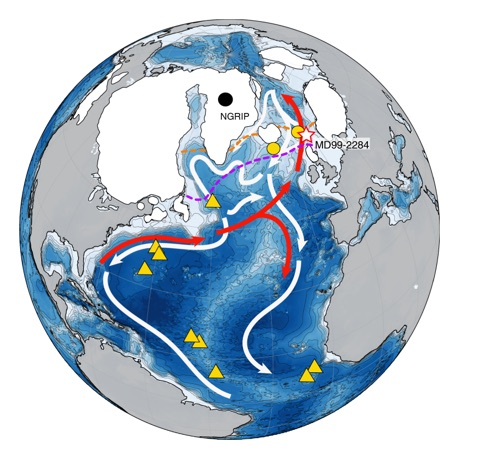 Le ralentissement de la circulation océanique aurait précédé de 400 ans un changement climatique majeur