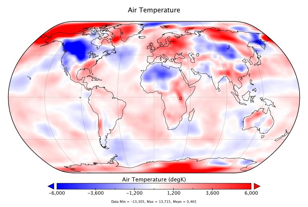 Température mondiale :  +0,46°C en février 2019