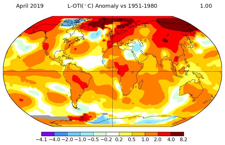 Température mondiale : 2e mois d'avril le plus chaud, selon la NASA