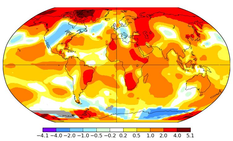 Température mondiale : 3e mois de mai le plus chaud, pour la NASA