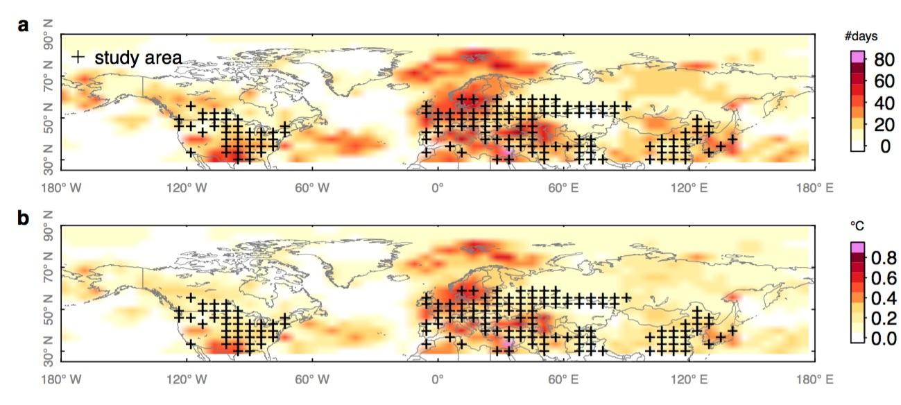 Le réchauffement global responsable de la vague de chaleur hémisphérique de 2018