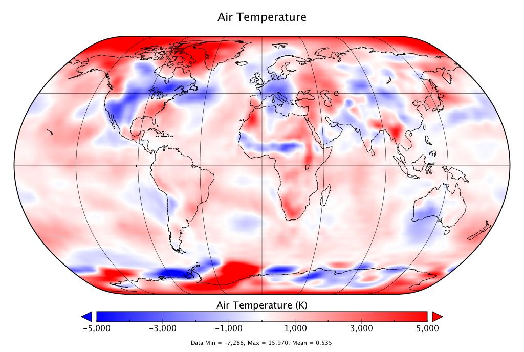 Température mondiale :  2e mois de mai le plus chaud, d'après NCEP-NCAR