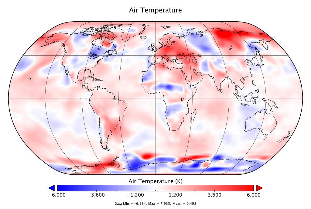 Température mondiale :  2e mois de juin le plus chaud, d'après NCEP-NCAR
