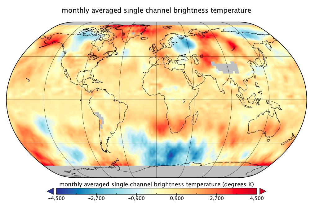 Température globale : les données satellitaires RSS pour le mois d'août