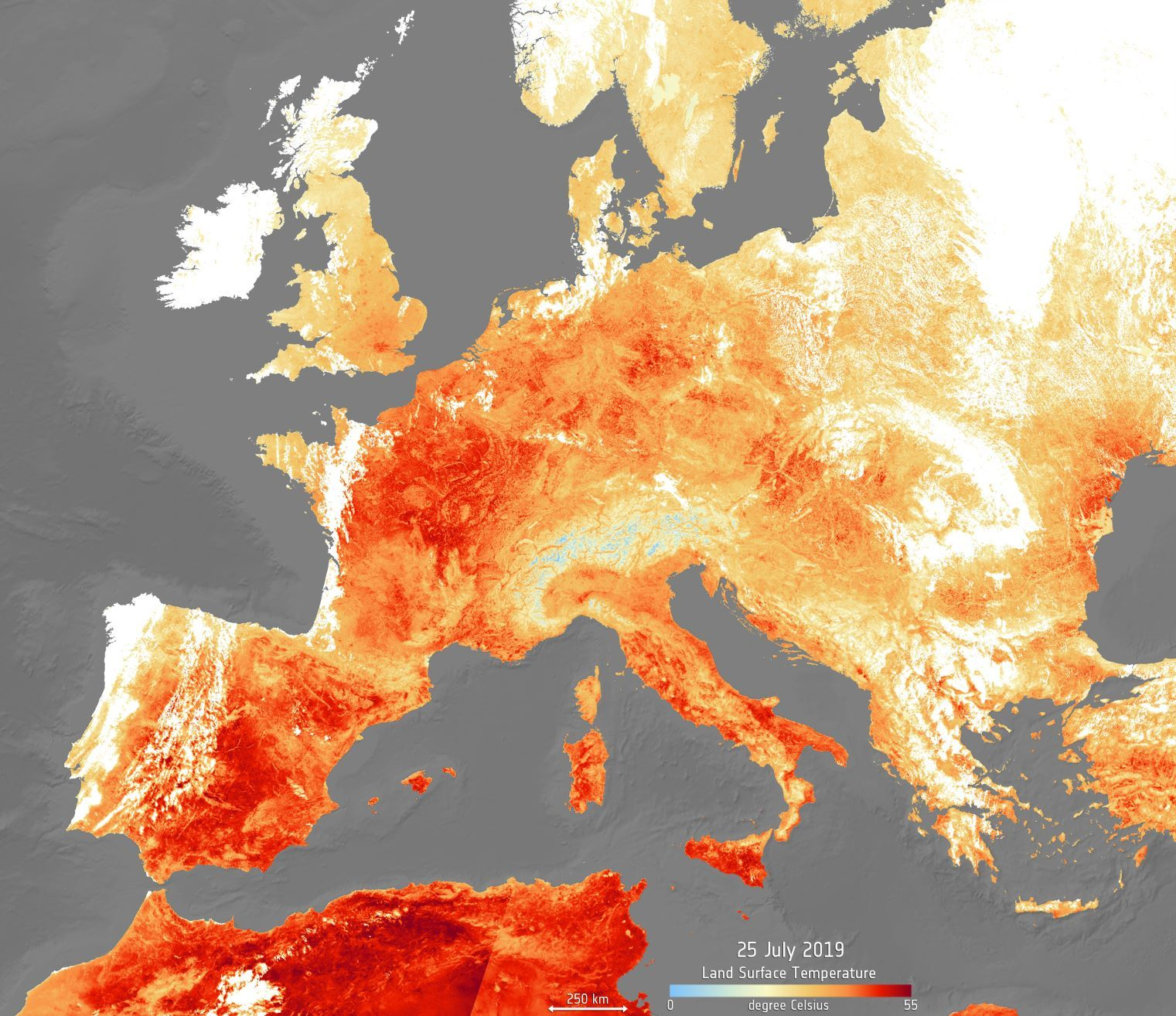 Plus de jours chauds et moins de nuits froides en Europe