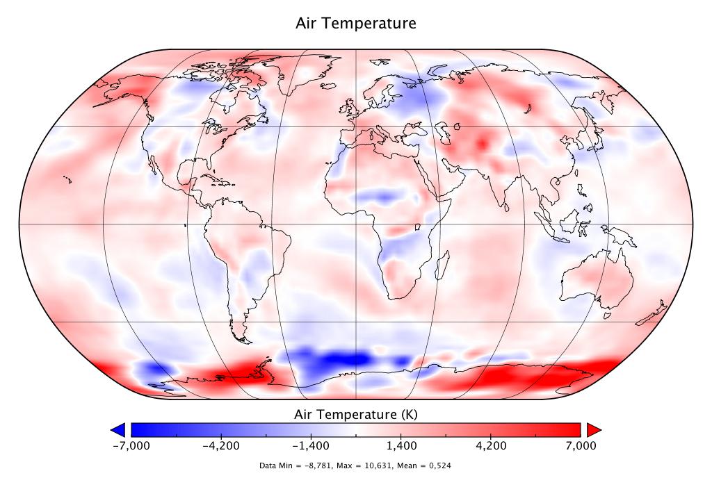 Température mondiale :  2e mois de juillet le plus chaud, d'après NCEP-NCAR
