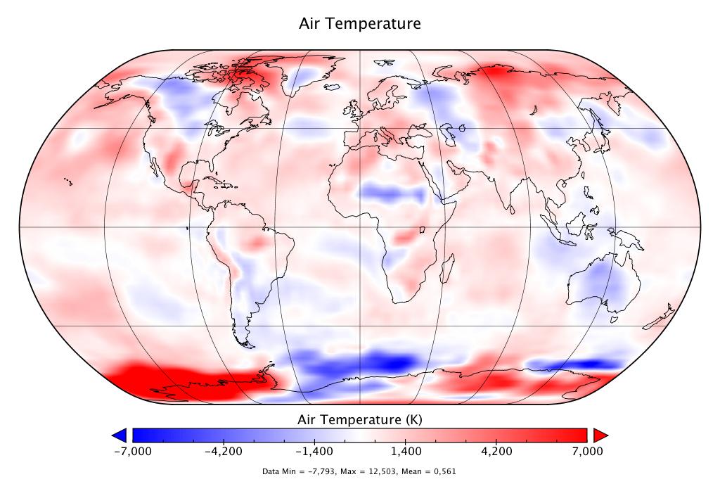 Température mondiale :  2e mois d'août le plus chaud, d'après NCEP-NCAR