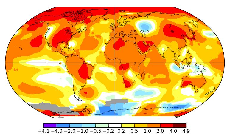 Température mondiale : 2e mois de septembre le plus chaud, d'après la NASA