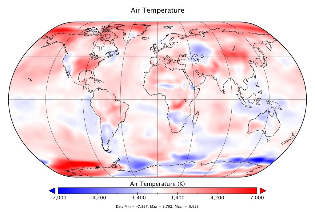 Température mondiale :  2e mois de septembre le plus chaud, d'après NCEP-NCAR