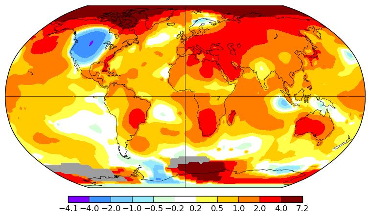 Température mondiale : 2e mois d'octobre le plus chaud, d'après la NASA