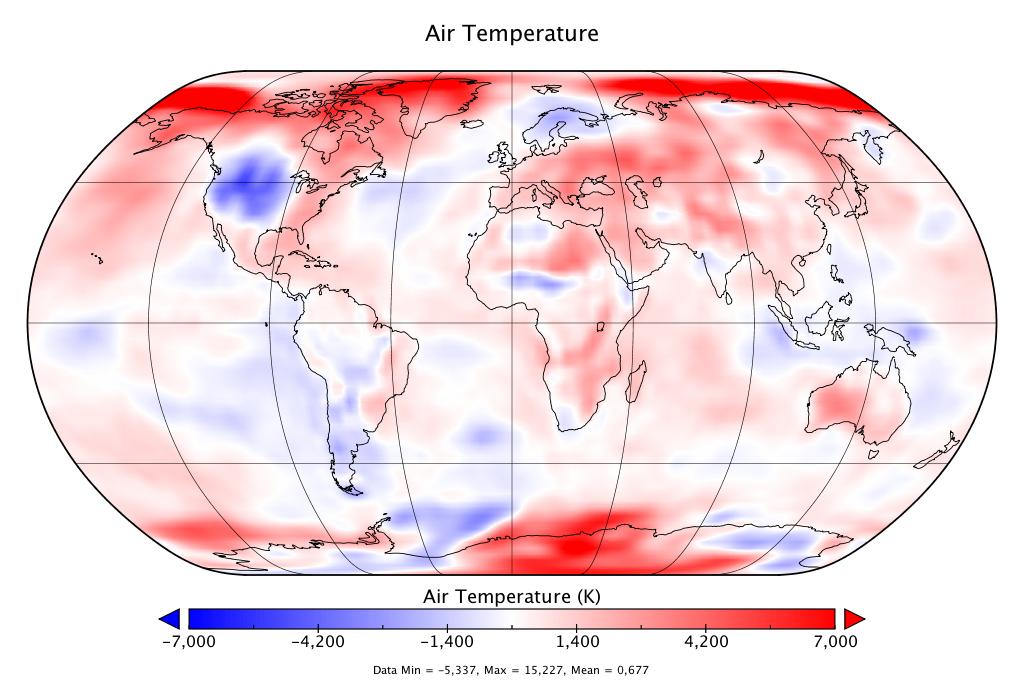 Température mondiale :  2e mois d'octobre le plus chaud, d'après NCEP-NCAR