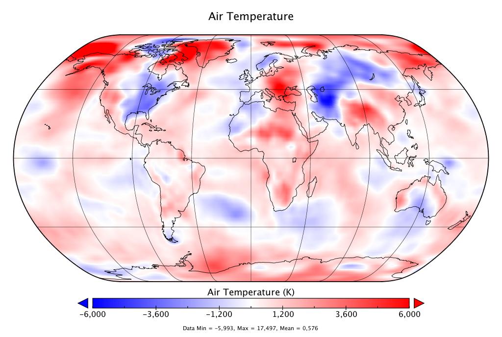 Température mondiale :  3e mois de novembre le plus chaud, d'après NCEP-NCAR