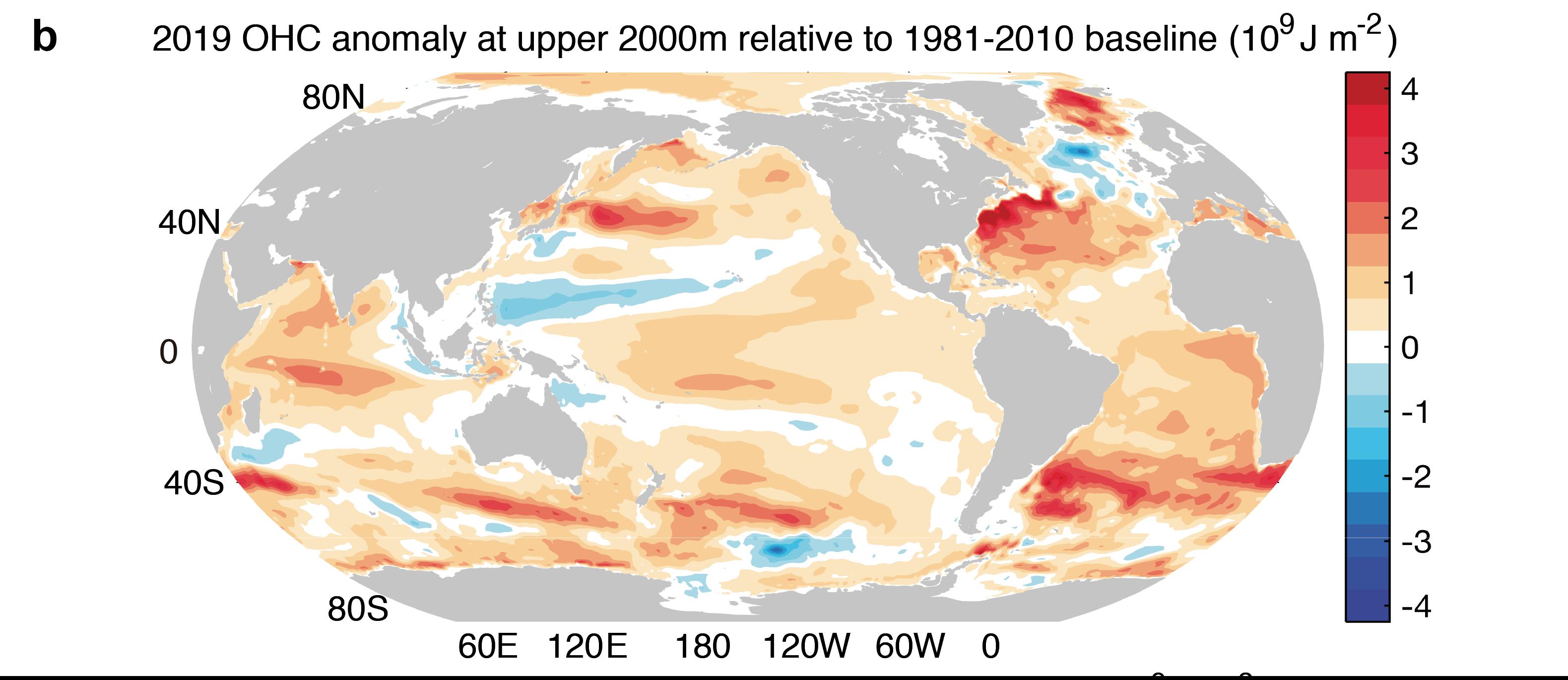 Nouveau record de chaleur pour l'océan en 2019
