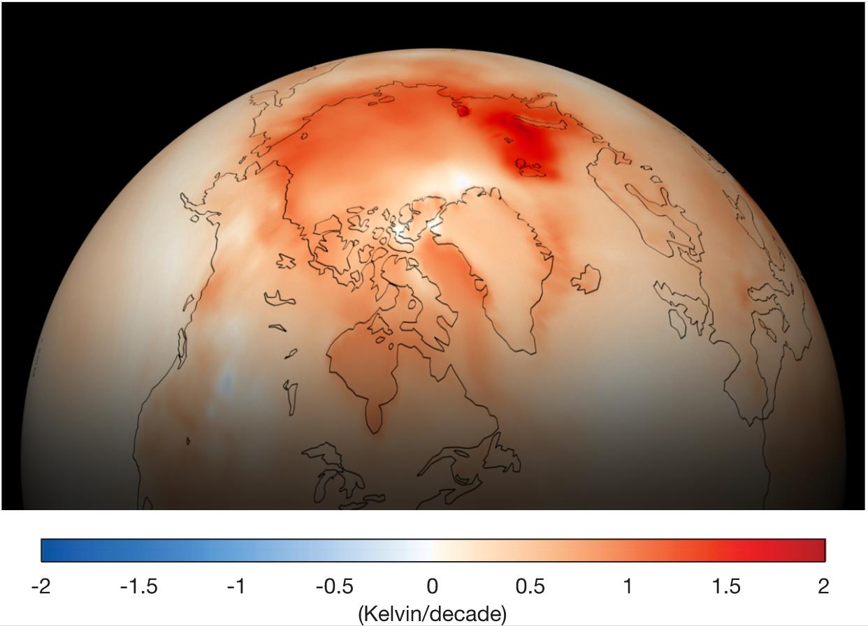 """L'Arctique connait un événement de """"réchauffement climatique rapide"""""""