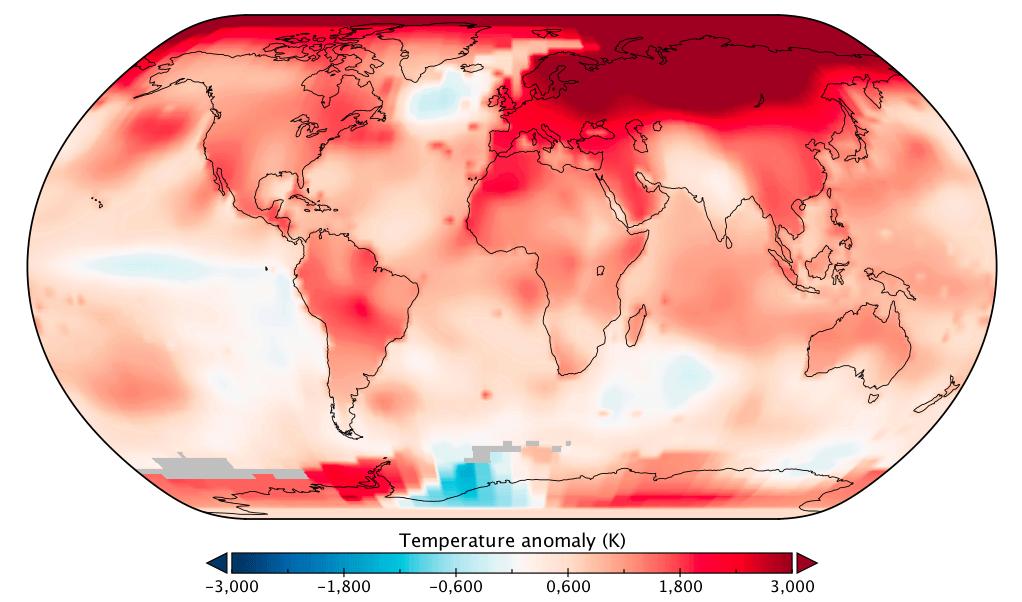 L'année 2020 parmi les plus chaudes depuis le début des relevés